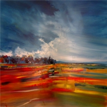 Field of Dreams Oil on canvas 120cm x 120cm Art Eye Gallery